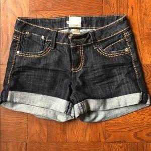 Denim shorts, size 0